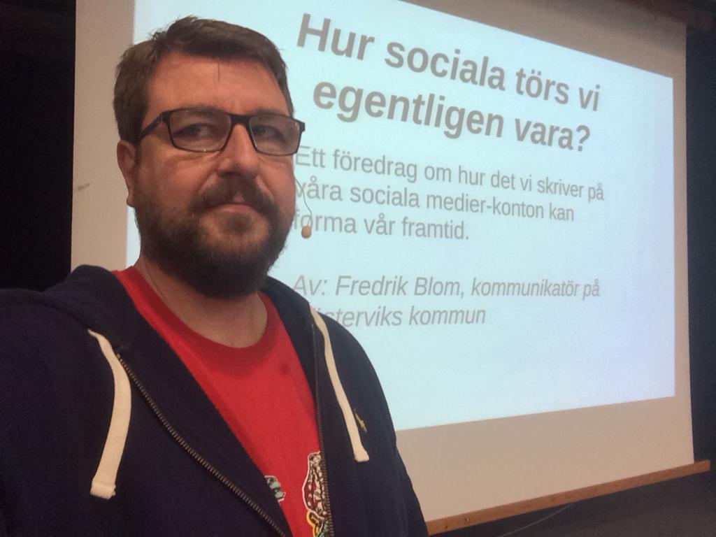 Fredrik Blom håller föredrag